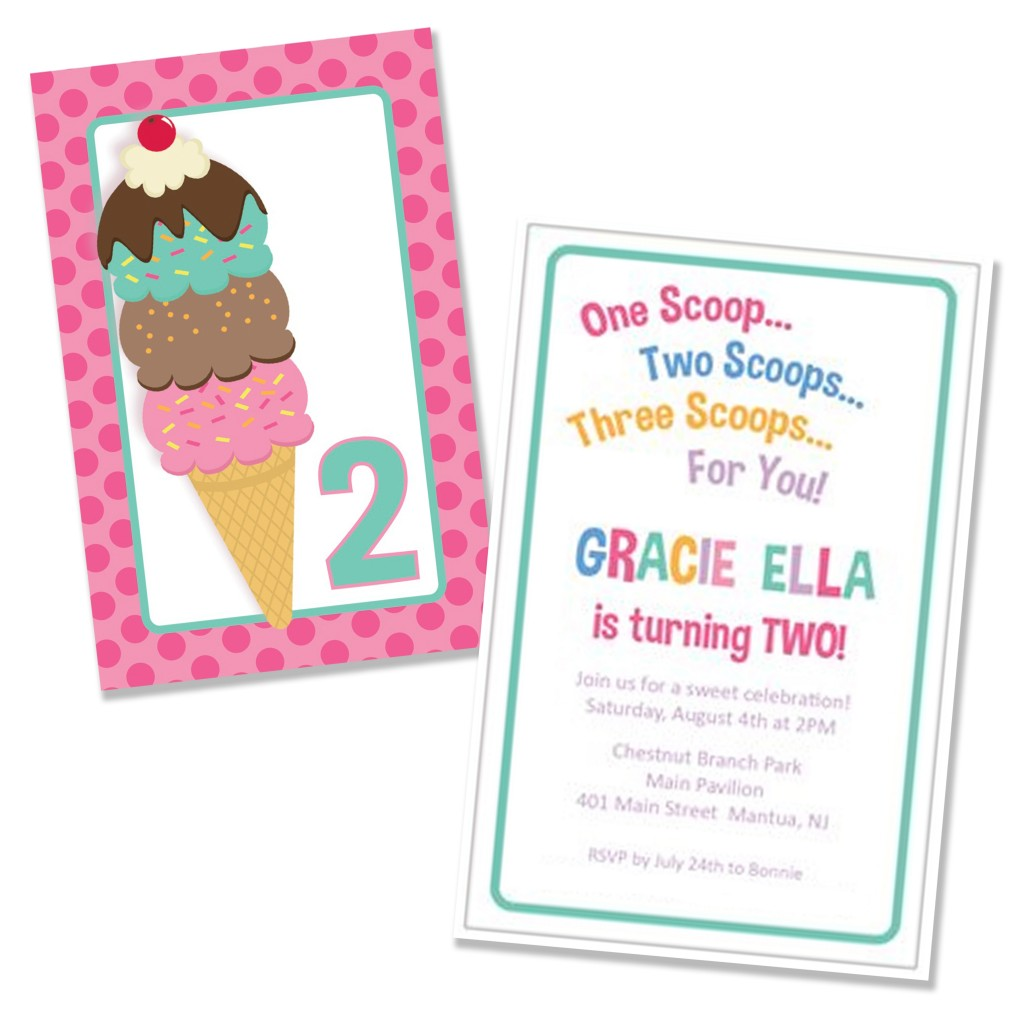 Sweetn Treats Blog Anything Cupcakery – Ice Cream Party Invitation